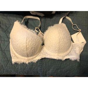 36C White lace bra